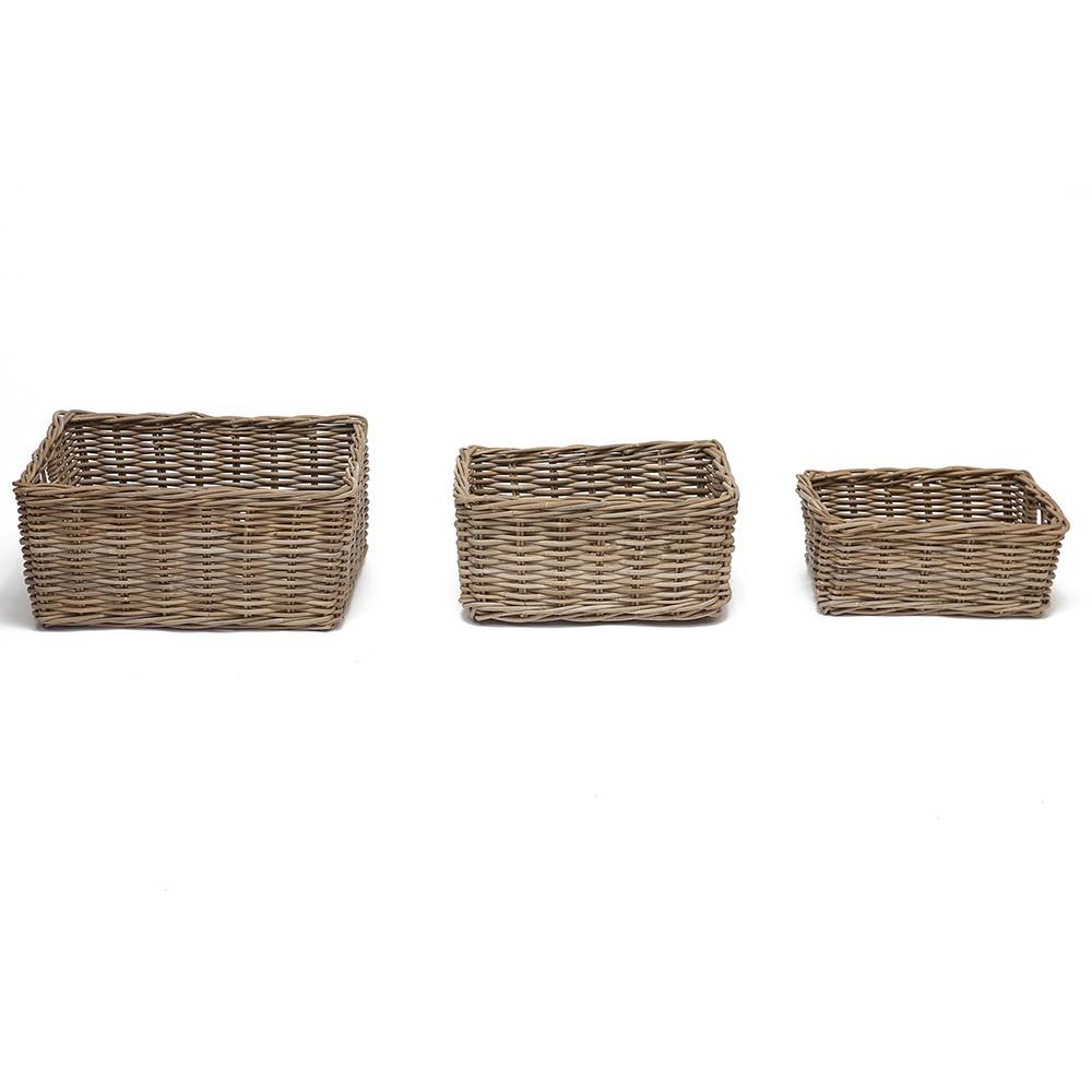 Корзина Secret De Maison Паго (Pago) (набор из 3 штук ) — Натуральный Кубу / Natural Kubu