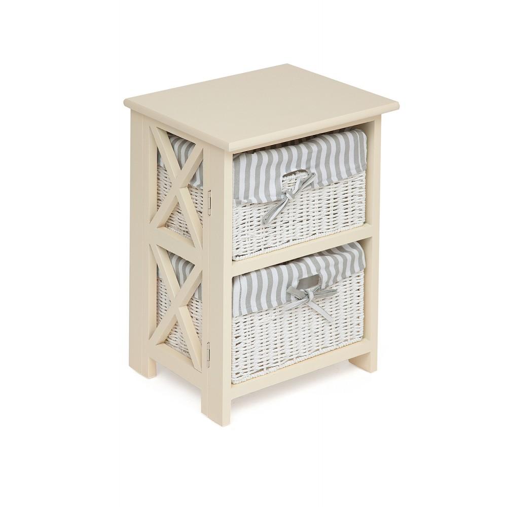 Тумба с 2 ящиками Secret De Maison Круа (CROIX) 2 ( mod. PE-08 ) — butter white (слоновая кость)