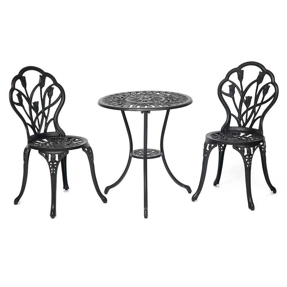 Комплект Secret De Maison Waltz of flowers (стол +2 стула) Вальс цветов — черный