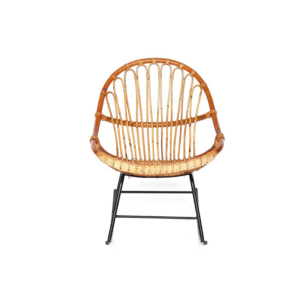 Кресло-качалка Secret De Maison Петунья (Petunia) (mod. 01 5088 RC SP KD/1-1 ) — светлый мед/черный