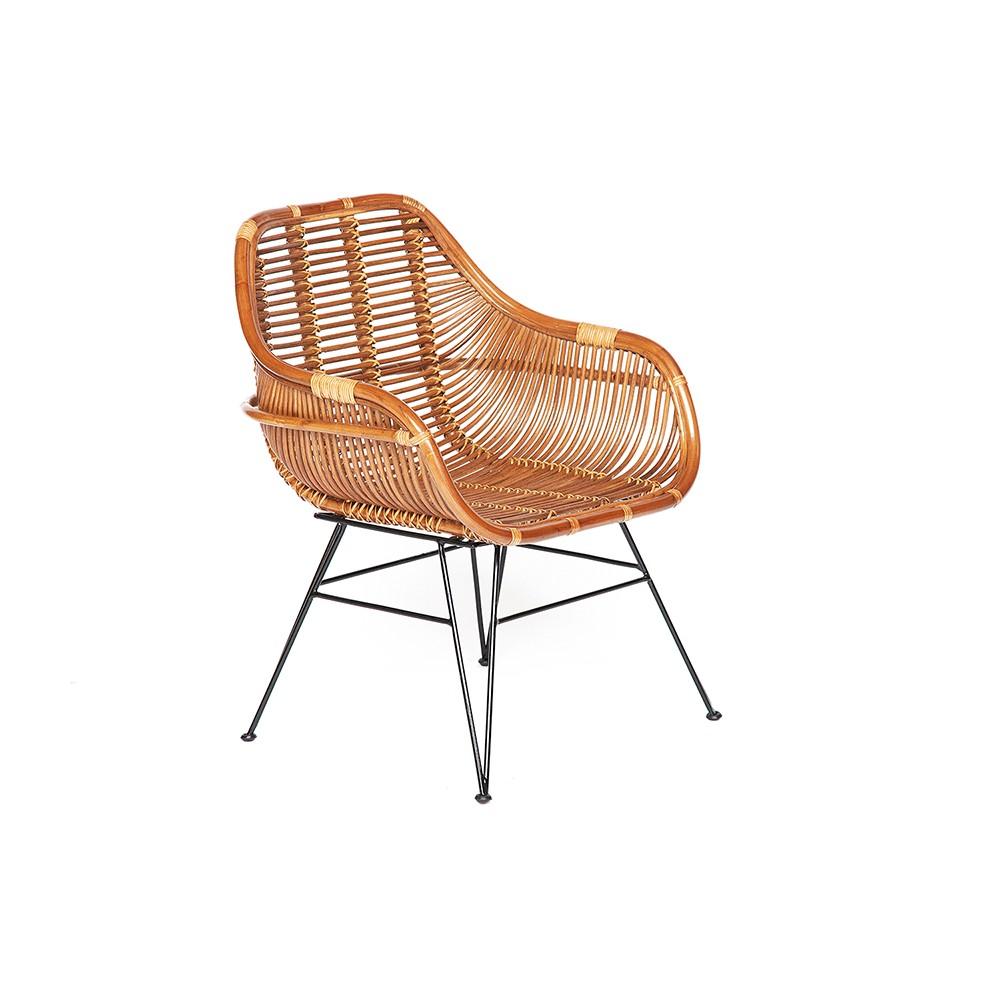 Кресло Secret De Maison Питая (Pitaya) (mod. 01 5089 SP KD/1-1) — светлый мед/черный