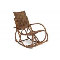 Кресло-качалка RADJA (6272) Античный коричневый, (широкое плетение)