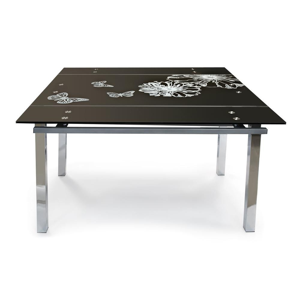TB017-8 Стол обеденный 2, черный, рисунок