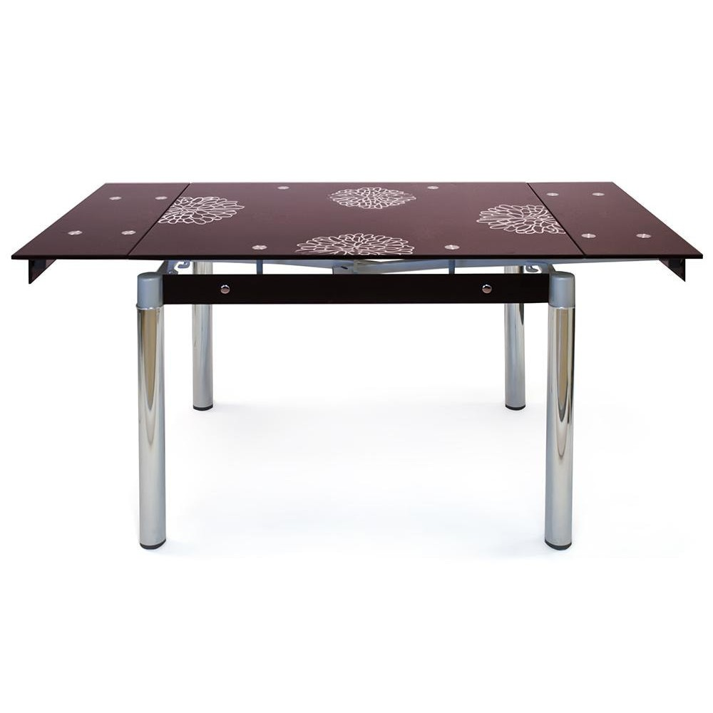 TB008-6 Стол обеденный  бордо, рисунок