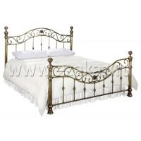 Кровать металлическая BD-604 King (180*200 см), Античная медь (Antique Brass)