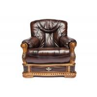 Кресло Oakman натур. кожа, Коричневый, # 08