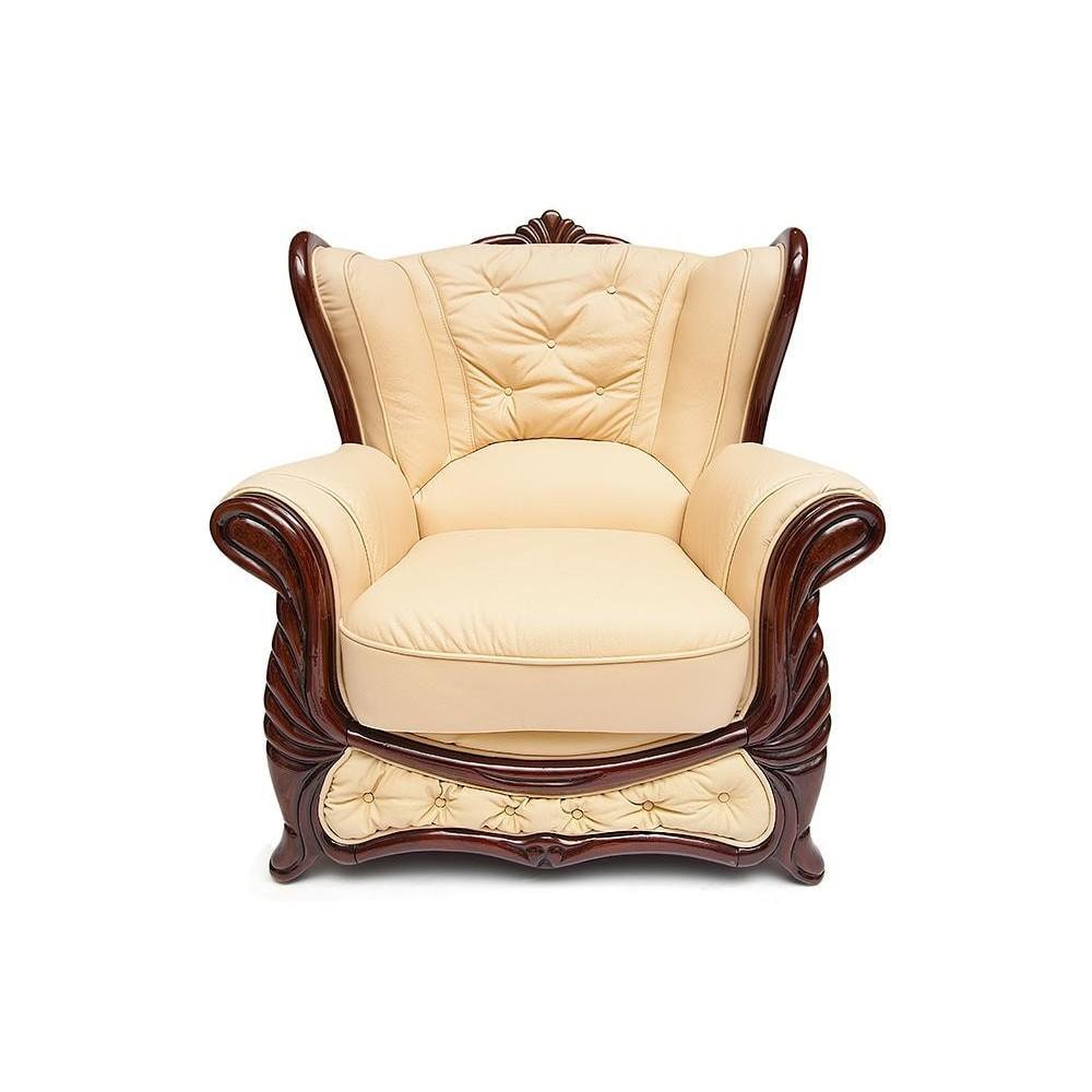 Кресло A-35B Viktoria натур. кожа, Бежевый, # 17