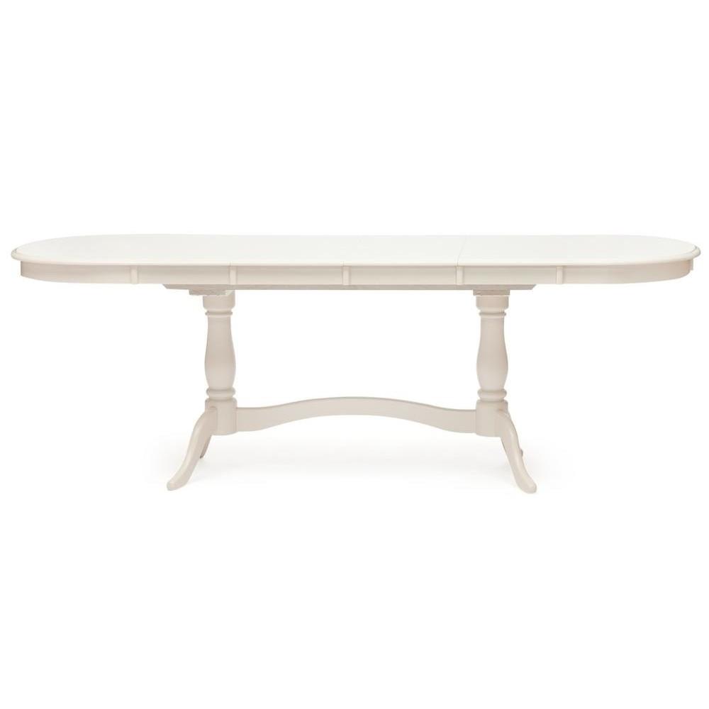 Стол раскладной Сиена (Siena ( SA-T6EX2L )) дерево гевея/мдф, ivory white (слоновая кость 2-5)
