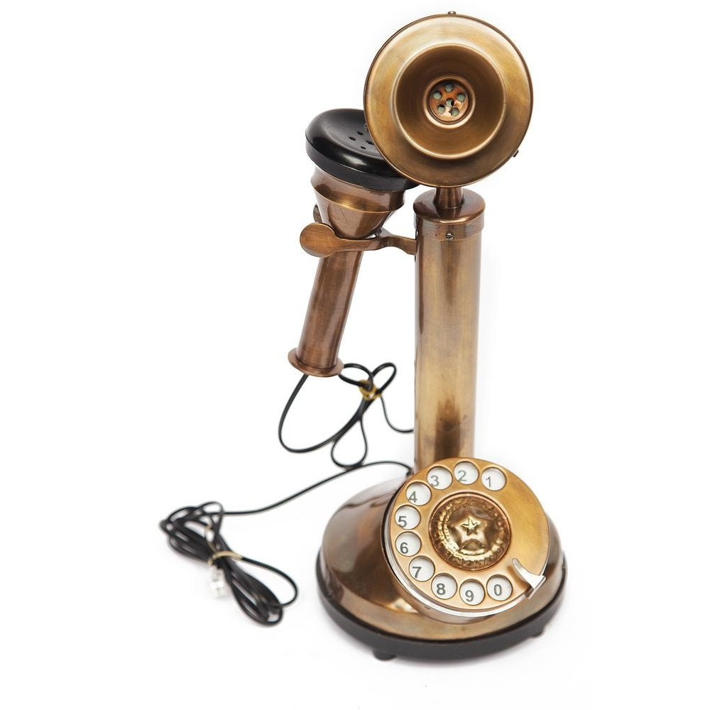 Ретро телефон # 7313 латунь, Античная медь (Antiqui Brass)