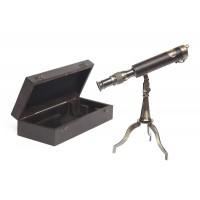 Настольная подзорная труба в подарочной упаковке # 1987 латунь/дерево, Античная медь (Antiqui Brass)