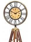 Напольные часы на треноге # 22022 сплав алюминия, нержавеющая сталь, дерево, Античная медь (Antiqui Brass)