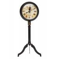 Настольные часы на треноге # 55009 латунь/дерево, Античная медь (Antiqui Brass)