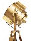 Напольная лампа-прожектор на треноге # 46119 сплав алюминий/латунь, дерево, Античная медь (Antiqui Brass)
