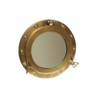 Зеркало-иллюминатор # 9908 сплав алюминия, Античная медь (Antiqui Brass)