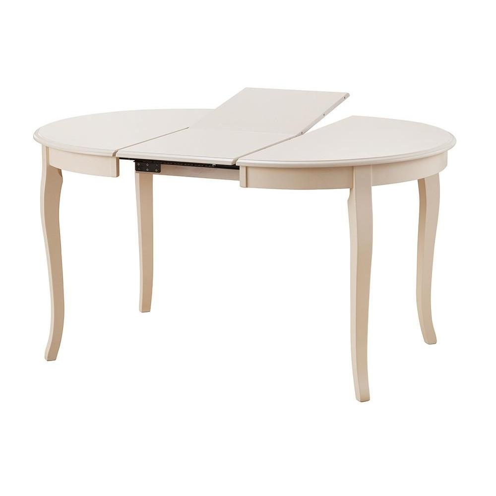 Стол раскладной Милано (Milano (MN-T4EX)) дерево гевея/мдф, ivory white (слоновая кость 2-5)