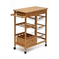 Передвижной кухонный разделочный столик SN-2011 натуральный (natural)