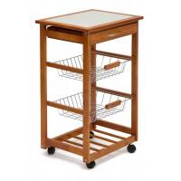 Передвижной кухонный разделочный столик SN-1911 натуральный (natural)