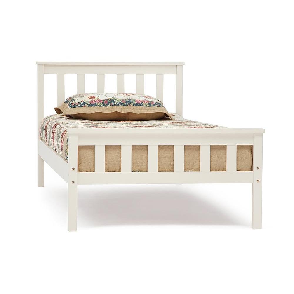 Lauretta - кровать деревянная Single bed, 90*200 см, белый