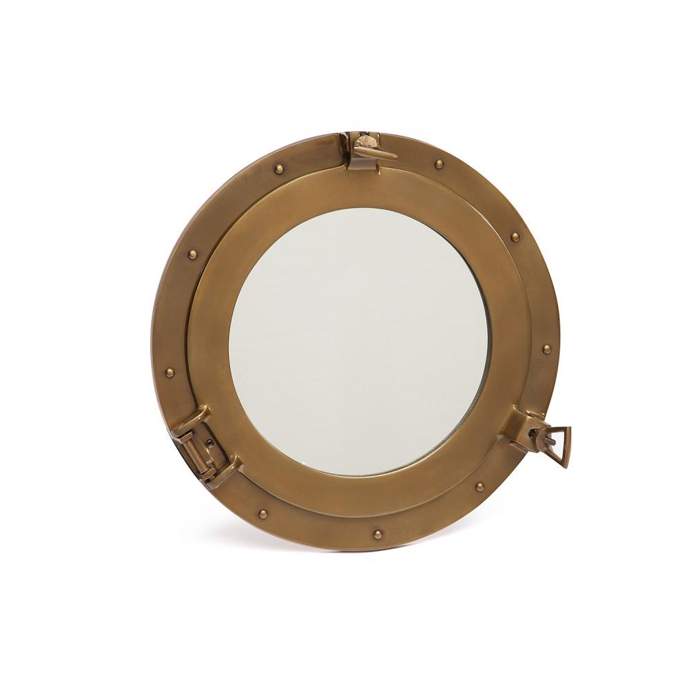 Зеркало-иллюминатор # 9908  сплав алюминия, цвет: Античная медь (Antique Brass)