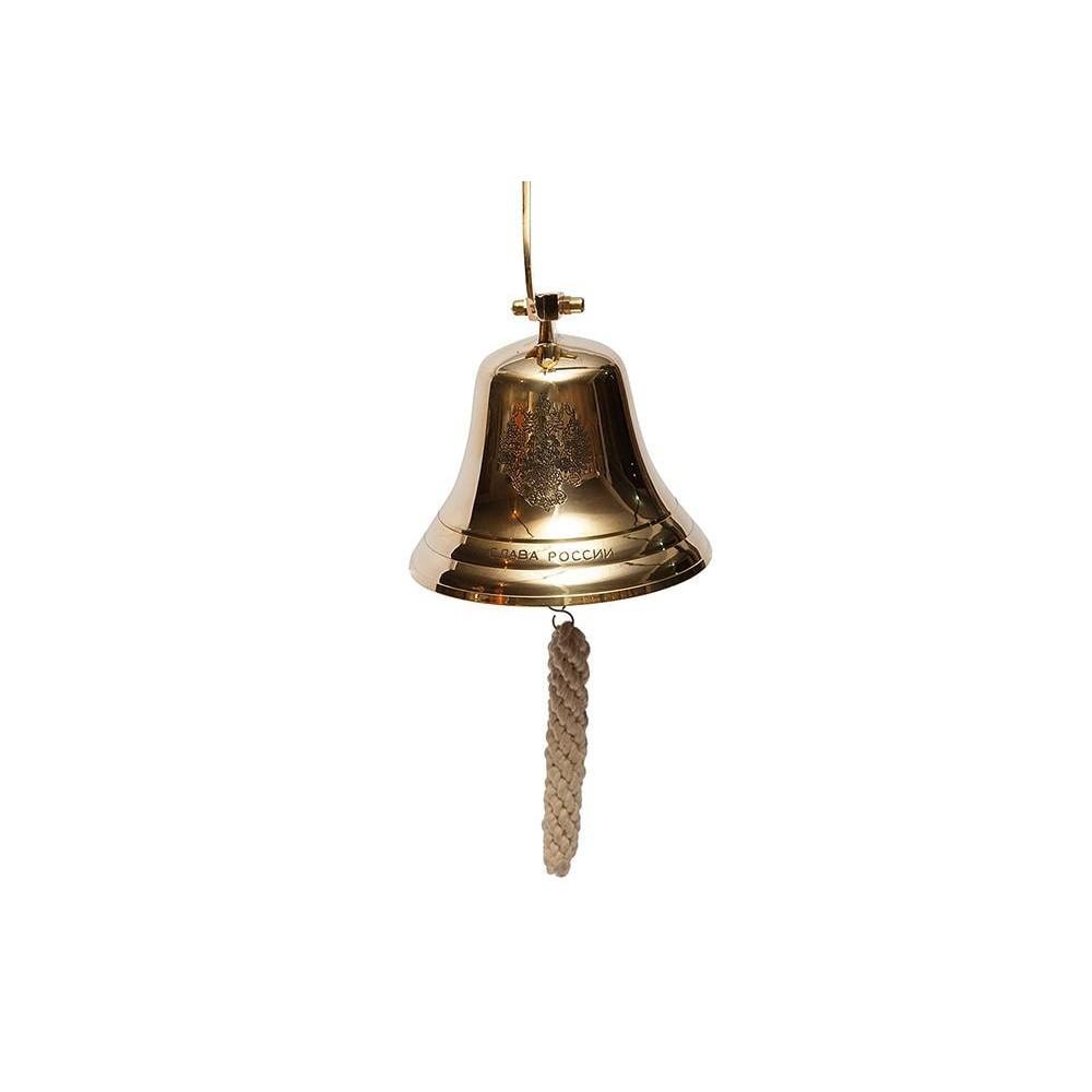 Колокол-рында (диаметр 15 см) #98011 латунь, Золото