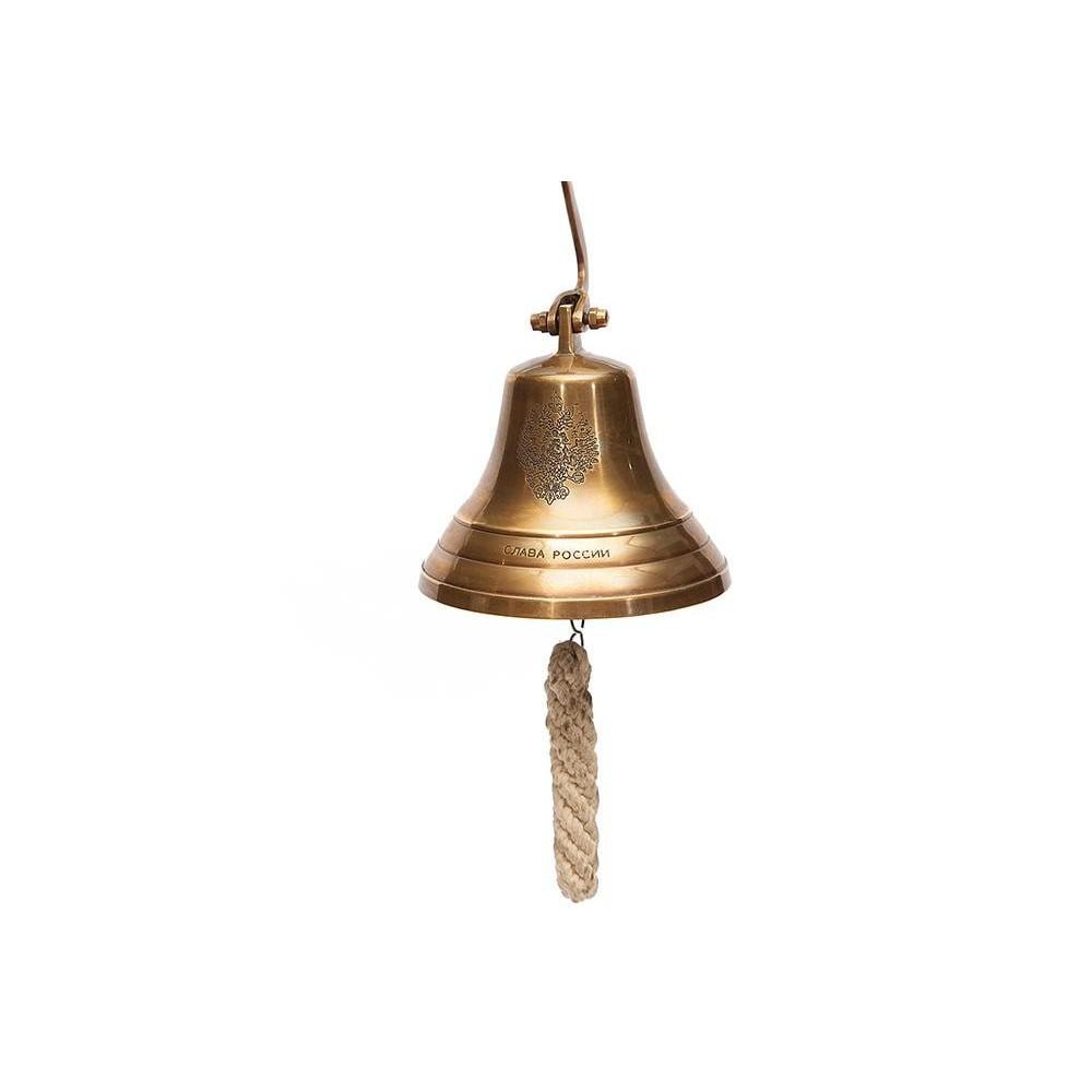 Колокол-рында (диаметр 12,5 см) #98011 латунь, цвет: Античная медь (Antique Brass)