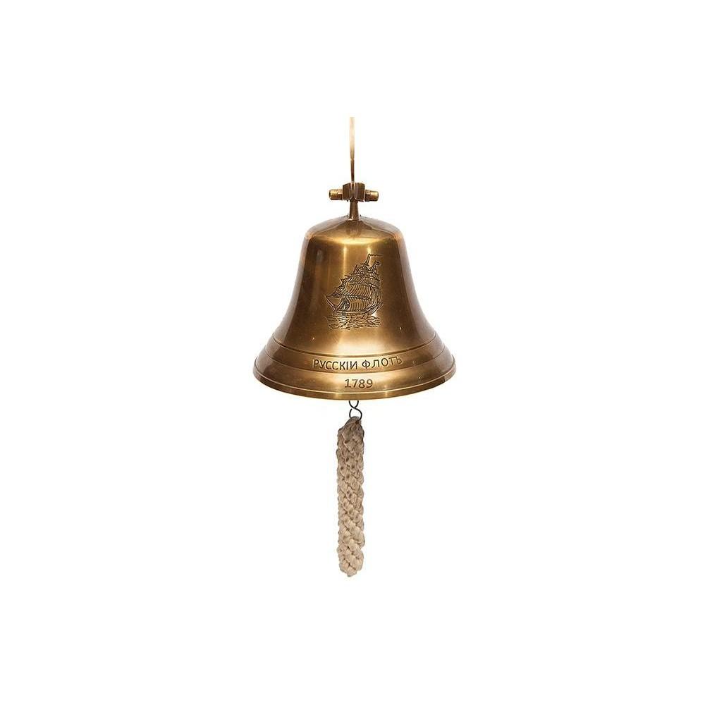 Колокол-рында (диаметр 15 см) #98011 латунь, цвет: Античная медь (Antique Brass)