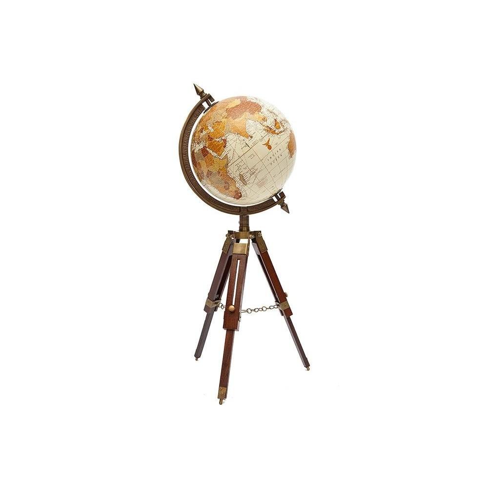 Глобус на треноге # 34149 сплав алюминий/латунь, дерево