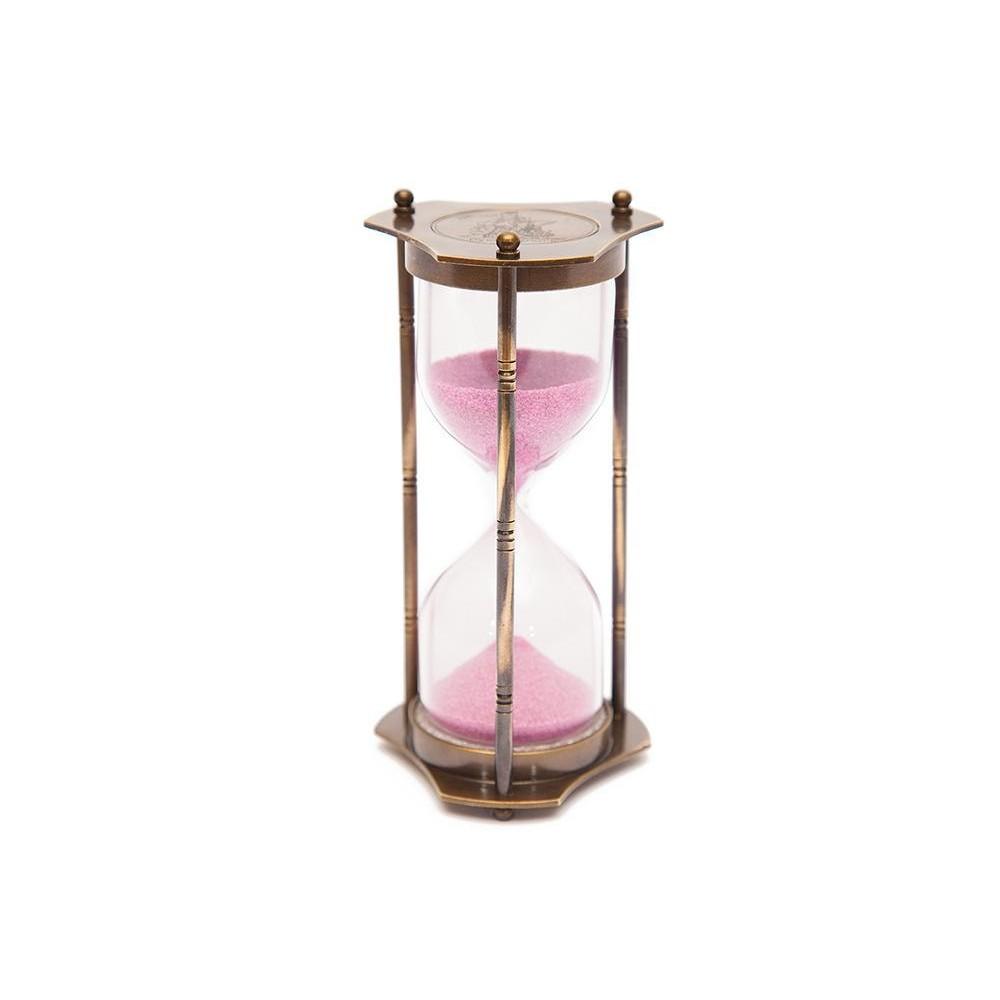 Настенные часы-штурвал # 9981 латунь/дерево, диаметр 46 см