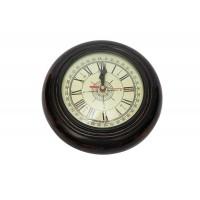 Настенные часы # 22023 сплав алюминия/дерево