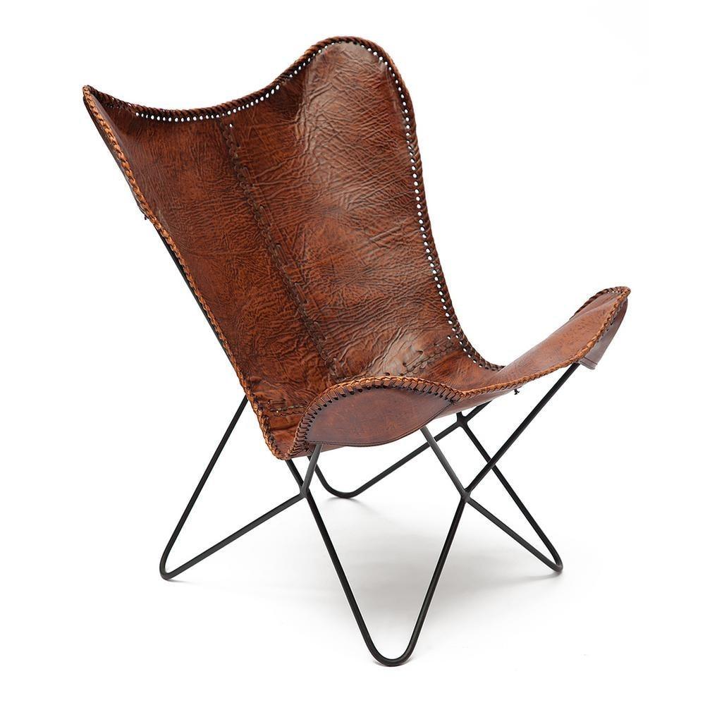 Кресло Secret De Maison NEWTON ( mod. M-3034 ) кожа буйвола / металл, коричневый