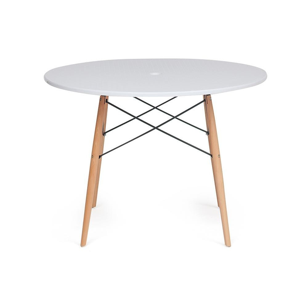Стол Secret De Maison SIMON дерево береза/металл/пластик, white (белый)