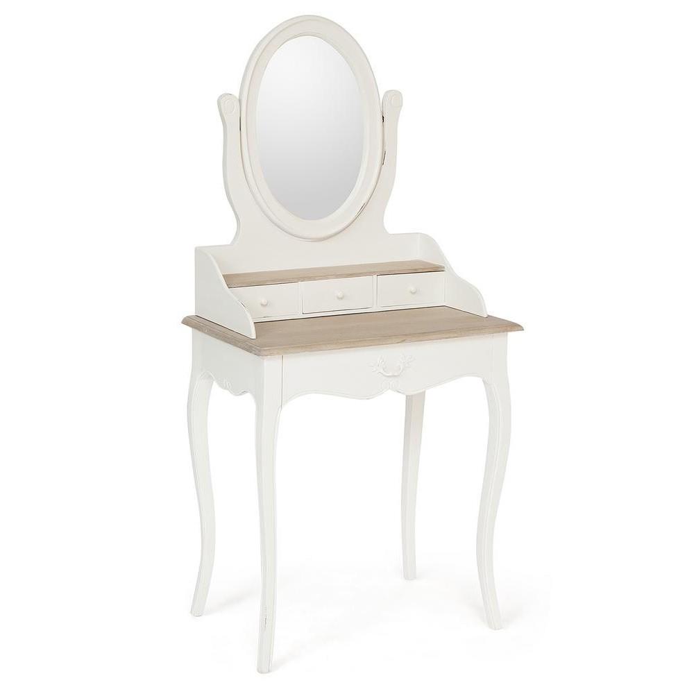 Туалетный столик Secret De Maison MATHIS ( mod. DST 03 ) красное дерево, Натуральный Минди/butter white