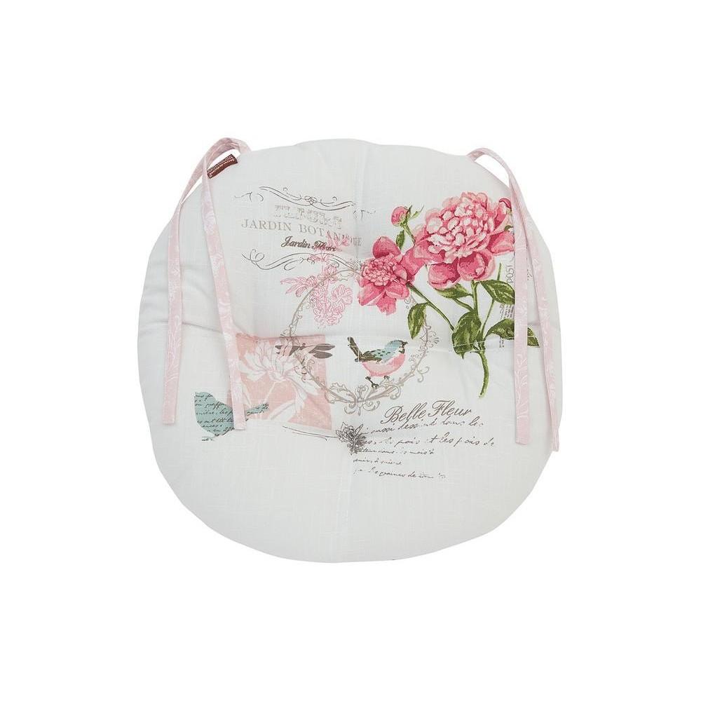 Fleurimont | Подушка на стул ( круглая ) хлопок, диаметр 40 см