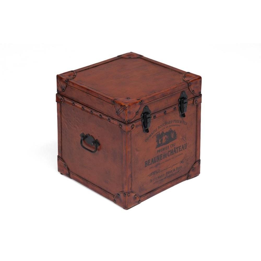 Столик-сундук Secret De Maison BUFFALO ( mod. 14521 ) дерево манго/кожа буйвола, коричневый