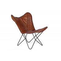 Кресло Secret De Maison NEWTON ( mod. M-8105 ) металл/кожа буйвола,  коричневый