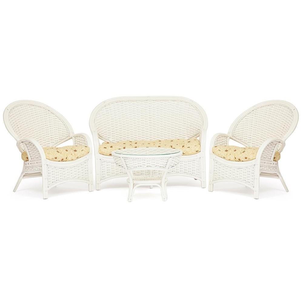 КОМПЛЕКТ для отдыха NEO CHURCHILL ( стол + диван + 2 кресла ) TCH White (белый)