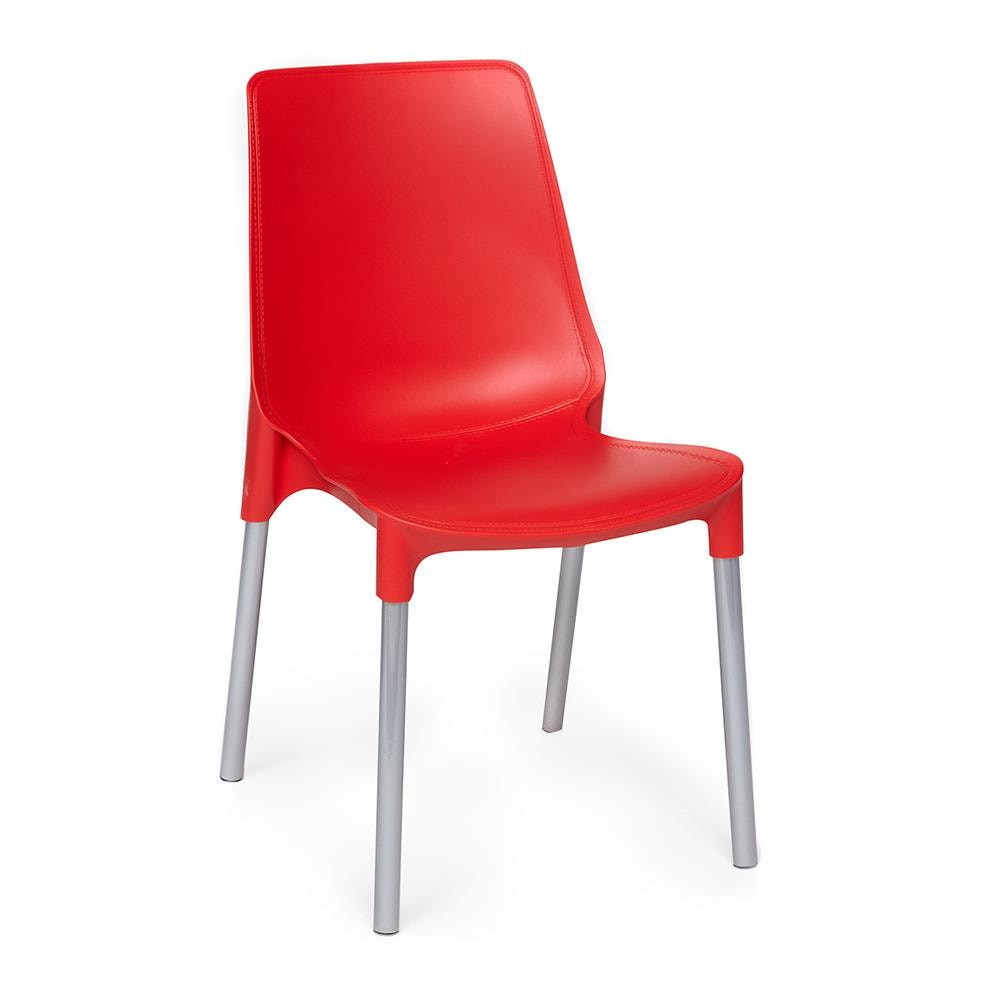 Стул GENIUS (mod 75) металл/пластик,  красный