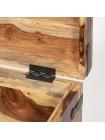 Сундук FLINT - 2876А металл/дерево палисандр, натуральный черный