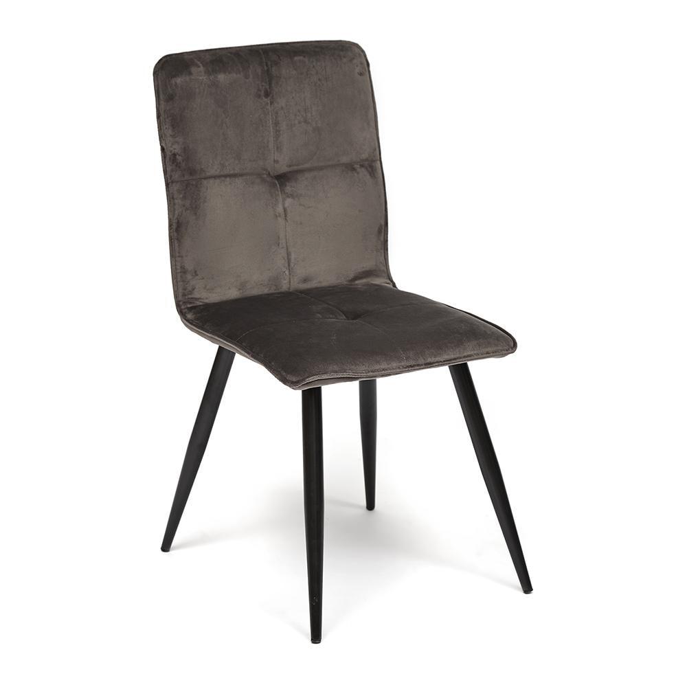 Стул FANTA ( mod.1899B ) металл/ткань,  серый вельвет