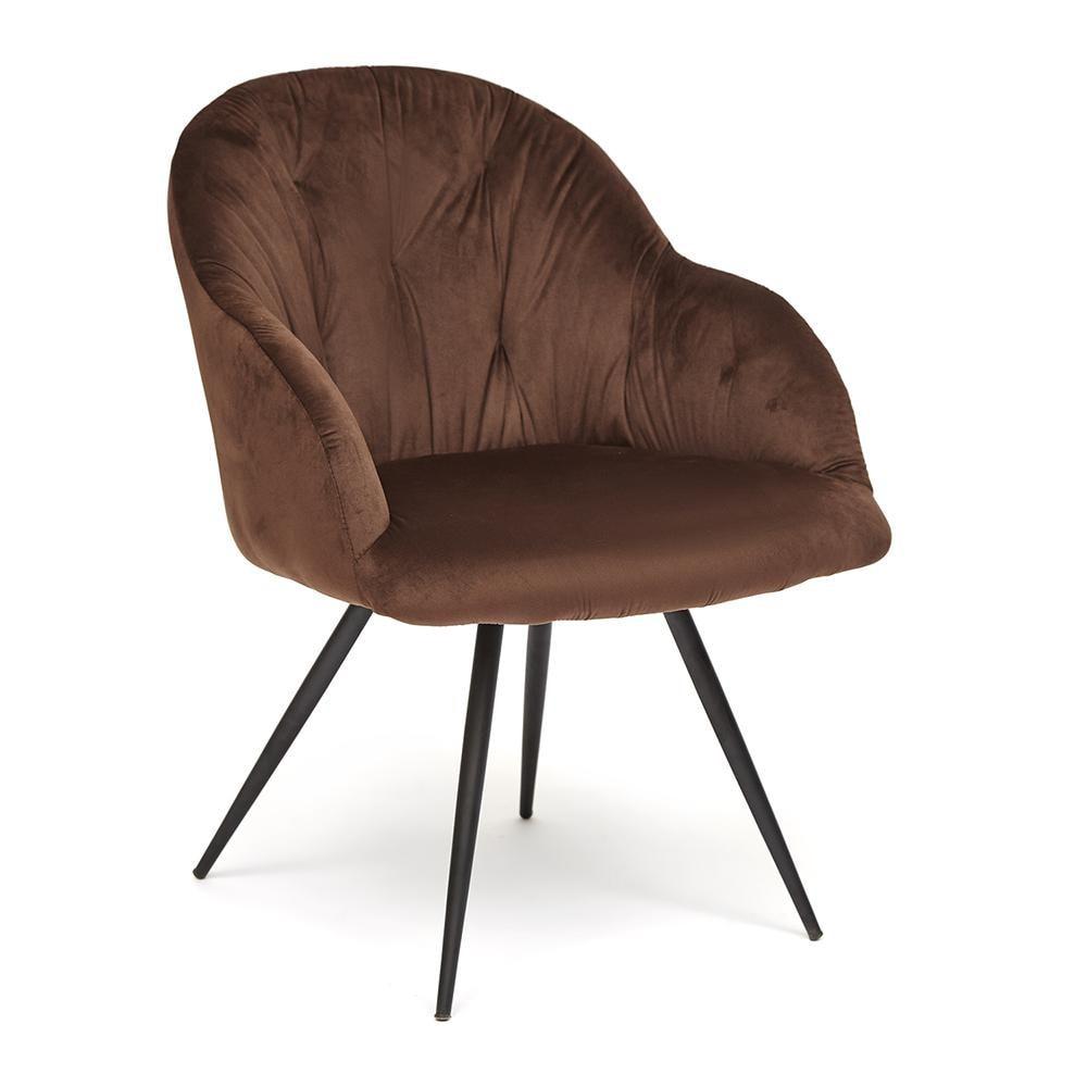 Кресло LIVORNO ( mod.1602 ) металл/ткань, коричневый вельвет