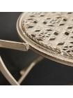 Комплект (стол + 2 стула) Secret de Maison AMANTE (mod. PL08-6573) металл, стол: 70х76см, стул: 42,5х39,5х93см, Античный белый (Antique White)