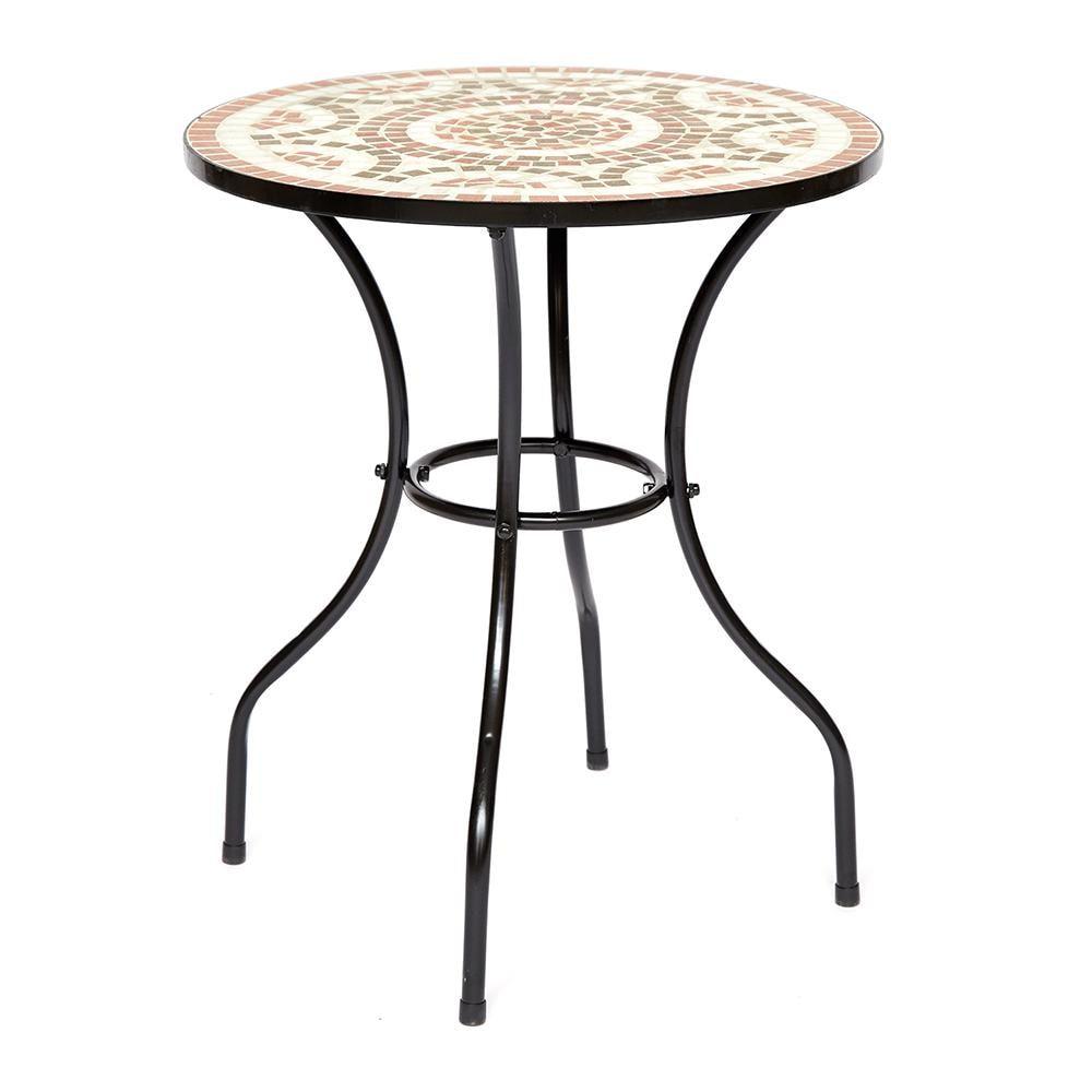 Стол Secret de Maison ROMEO (mod. PL08-1070) металл, 60х72см, черный/плитка