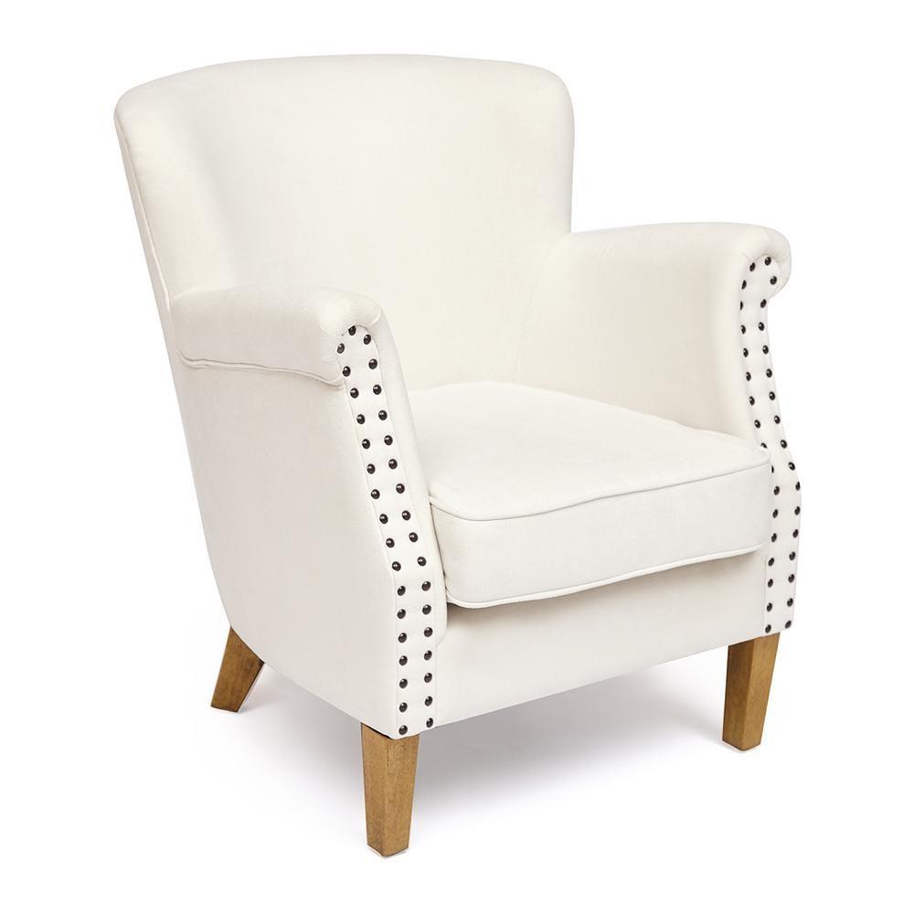 Кресло Secret De Maison Bolton (mod. CC2050) дерево береза, ткань: хлопок, слоновая кость/ Miss-01