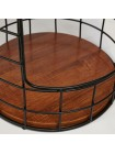 Столик Secret De Maison ALLONA ( mod. 338) металл/дерево гевея, черный/коричневый