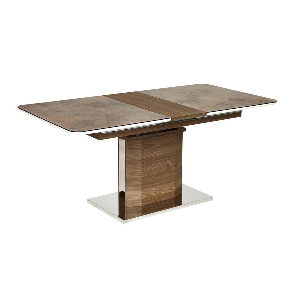 Стол RADCLIFFE( Mod. EDT-VG002) мдф high glossy, закаленное стекло, коричневый, стекло