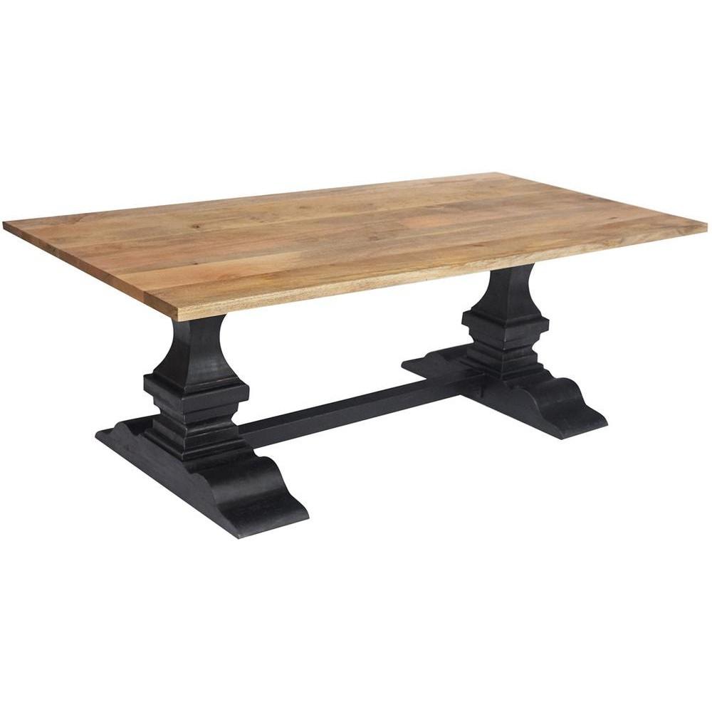 Стол обеденный Secret de Maison BLACK LABEL (mod. RD-001A) дерево акация, манго, мдф,  черный/натуральный