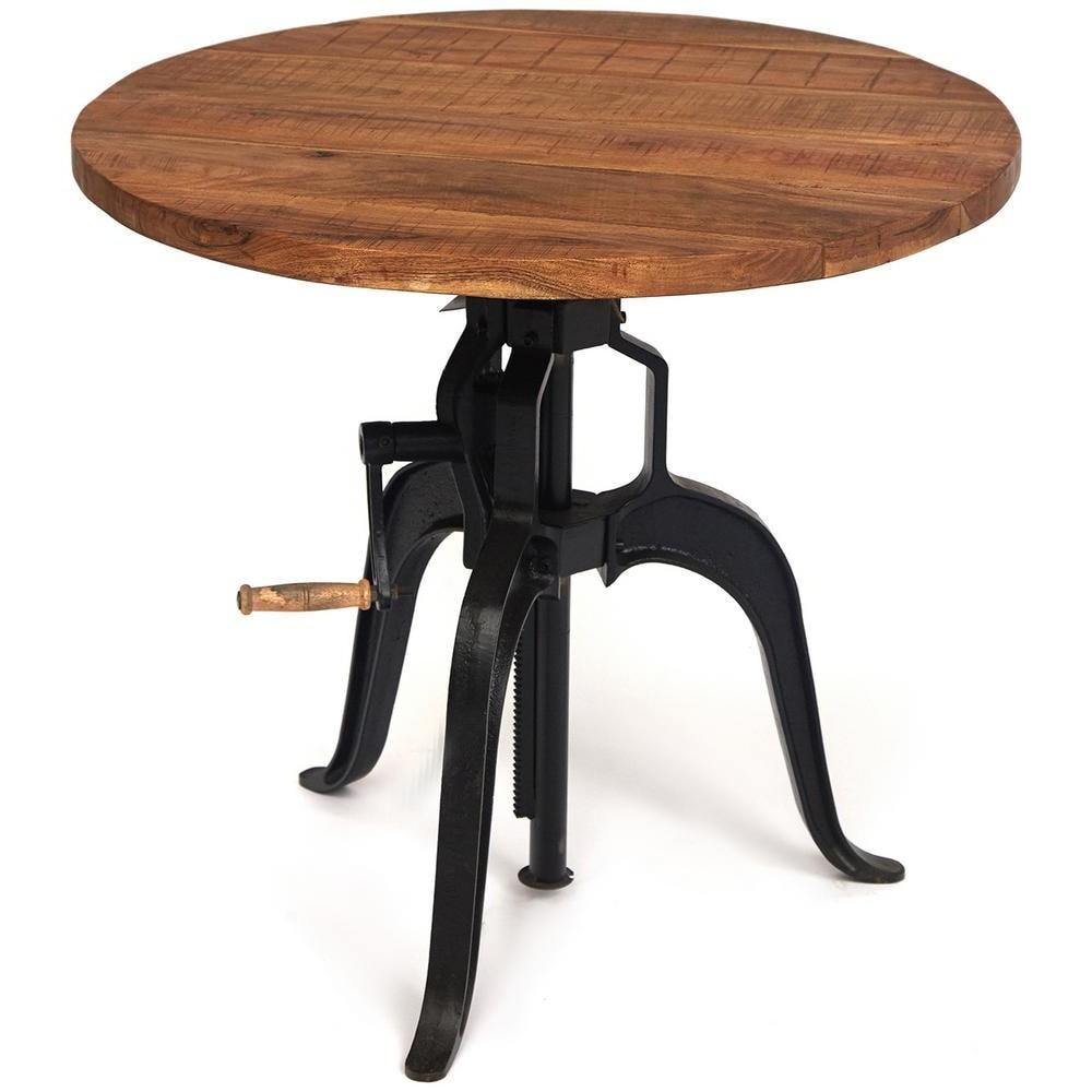 Стол круглый Secret de Maison KLAUS (mod. G04496A) дерево манго/металл, хела/металл натуральный