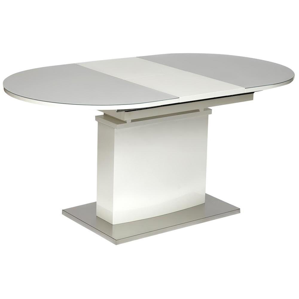 Стол COSMOS (mod.EDT-HE14) мдф high glossy, закаленное стекло, белый
