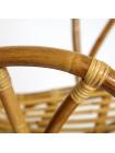 Комплект террасный AKIRA /с подушкой/ skin rattan eco, 54х60х78см / D46х40см, Natural (натуральный)