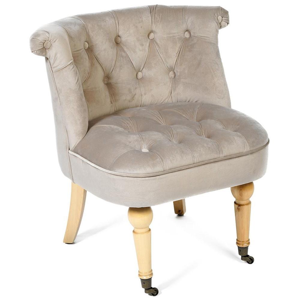 Кресло Secret De Maison Bunny (mod. C102) дерево береза, ткань: вельвет, светло-серый